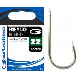 Garbolino Fine Match Round Bend 2220NI - haki zadziorowe